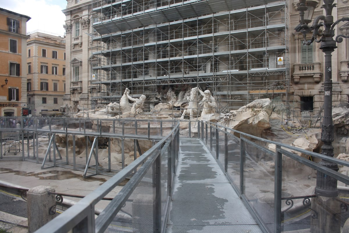 Trevi Under Construction